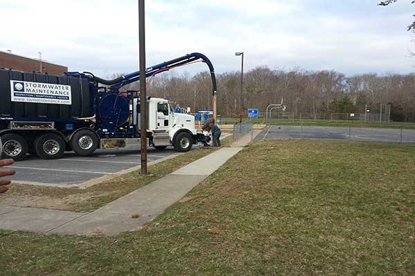 Underground BMP Maintenance with Vac Truck