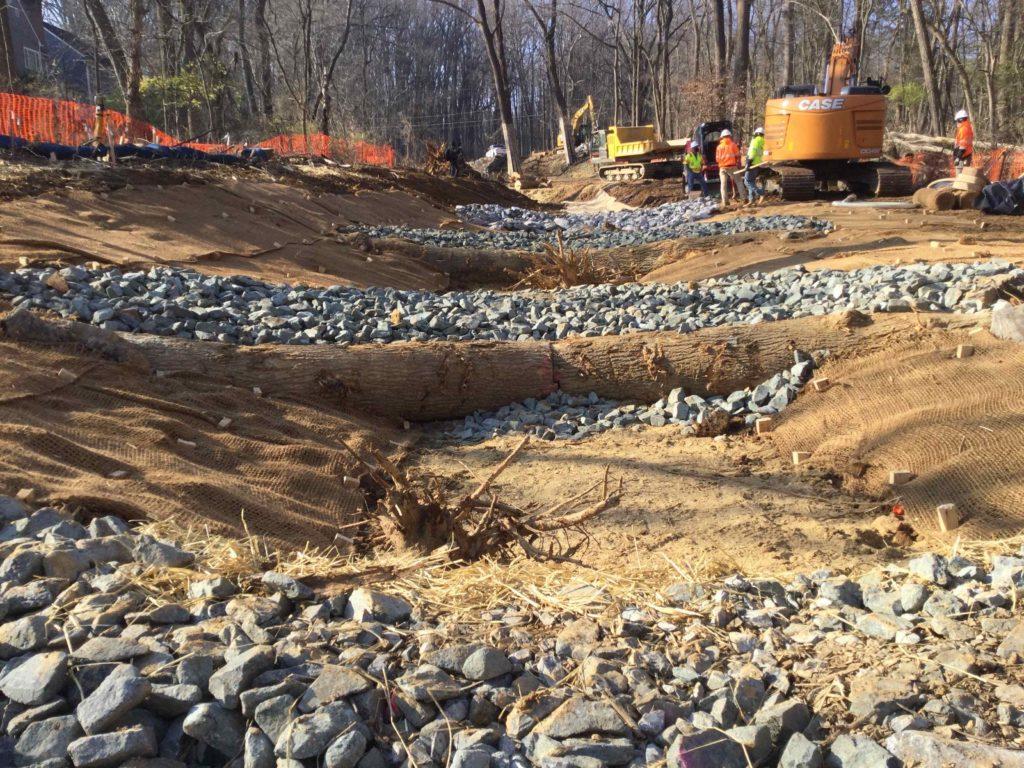 Woodend Sanctuary Stream Restoration Step Pool Conveyance System